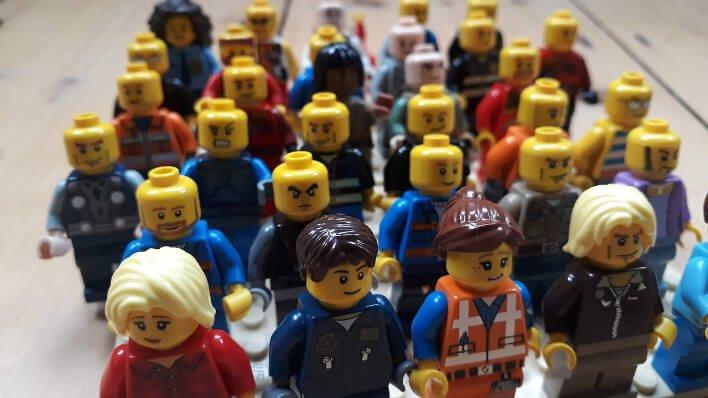 Hundreds of LEGO minifigures
