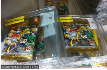 LEGO Series 10 minifigures in hardened security cases