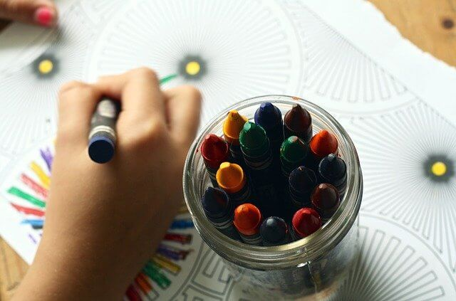 Drawing prompts for kids who use crayons